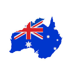 australia map with flag vector image