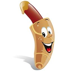 cartoon hotdog vector image
