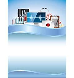 medicine vertical background vector image