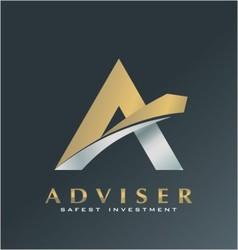 finance logo adviser symbol advice icon vector image vector image