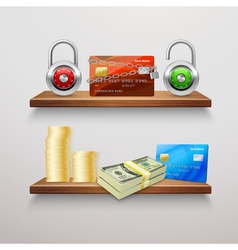 Realistic finance collection vector