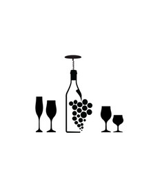 template for wine card vector image