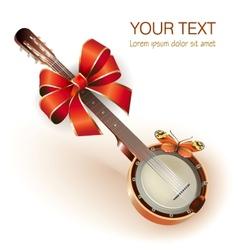 Traditional Mexican banjo vector image