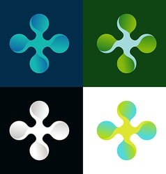 abstract logo in different colors vector image vector image