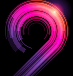 abstract technology curves vector image vector image