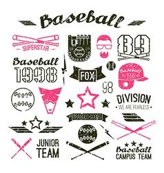 Icons Baseball campus team vector image vector image
