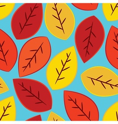 single yellow orange and red fall leaves seamles vector image