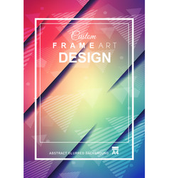 abstract geometric colorful background with high vector image