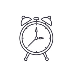 alarm watch line icon concept alarm watch vector image