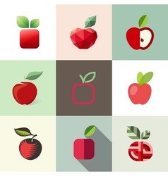 Apple - logo templates set - elements for design vector image