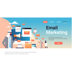 arabic businessman holding megaphone email vector image