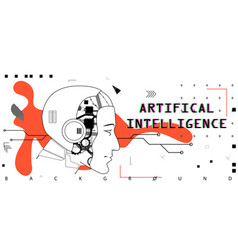 artifical intelligence conceptual poster vector image