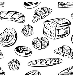 Bakery pattern vector