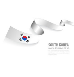 banner with south korea flag colors vector image