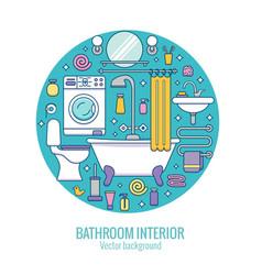 bath equipment colorful concept vector image
