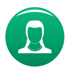 Best woman user icon green vector