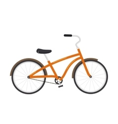 Bicycle isolated on white background vector image