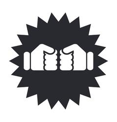 Boxer icon vector