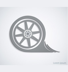car wheel abstract car sign for your design vector image