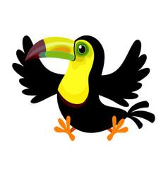 Cartoon keel-billed toucanramphastos sulfuratus vector