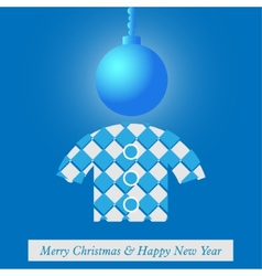 Christmas and New Years card with stylized figure vector image