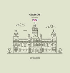 City chambersl in glasgow vector