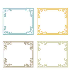 classic frame set vector image