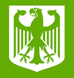 coat of arms of germany icon green vector image