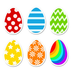 colored bright easter eggs in cartoon style on vector image