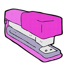Comic cartoon office stapler vector
