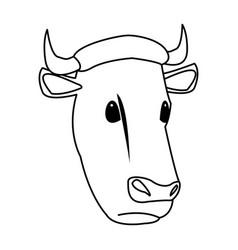 cow head animal farm agriculture fauna vector image