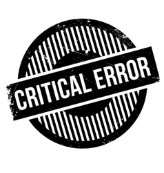 Critical error stamp vector