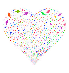 Cursor arrow fireworks heart vector