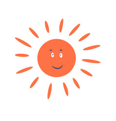 cute sun cartoon character smiling clip art vector image