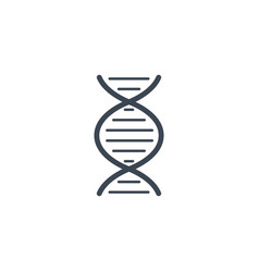Dna related glyph icon vector