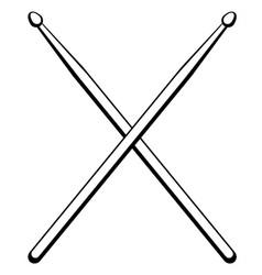 Drumsticks music instrument vector