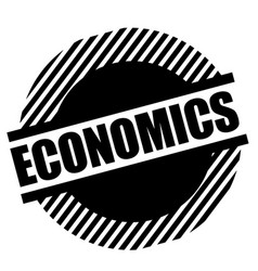 Economics stamp on white vector