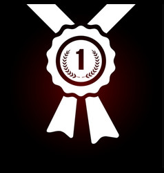 first place award winner badge icon emblem for vector image