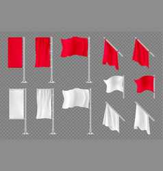 flag banners realistic textile flags vector image