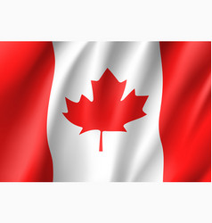 Flag canada realistic icon vector