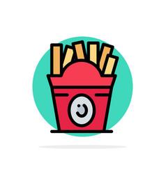 fries fast food food usa abstract circle vector image