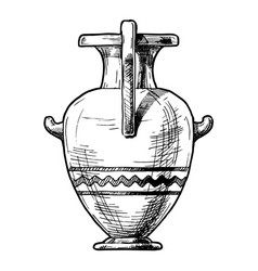 Greek vase hydria vector