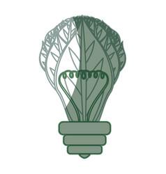 Green energy bulb vector