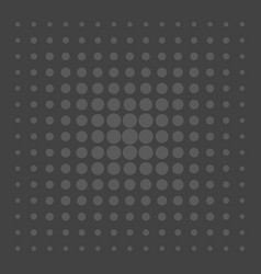 Grey comic pattern dots on black background vector