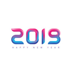 happy new year greeting card with gradients new vector image