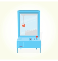 Heart toy prize claw machine vector