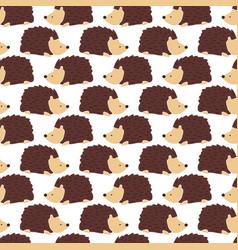 hedgehog seamless background cute autumn vector image