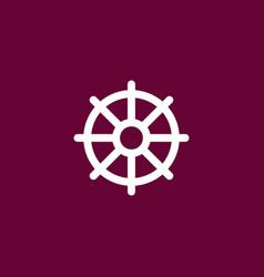 helm marine icon simple vector image