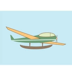 hydroplane seaplane transport aviation vector image