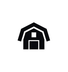 isolated barn icon hangar element can be vector image